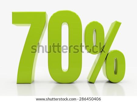 Percent off. Discount. 3D illustration - stock photo
