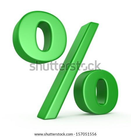 Percent Sign Isolated on the White Background