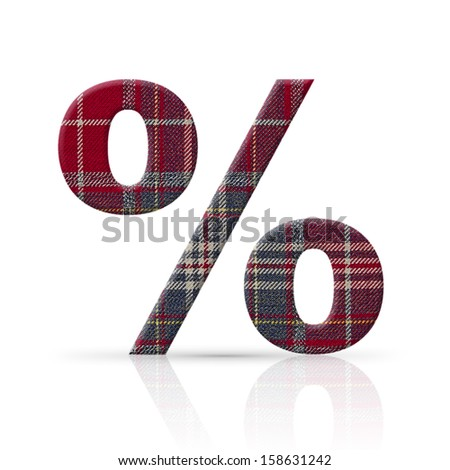 percent symbol - stock photo