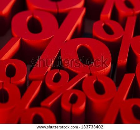 Percentage background - stock photo