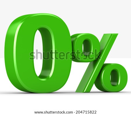 percentage of green on a white background - stock photo