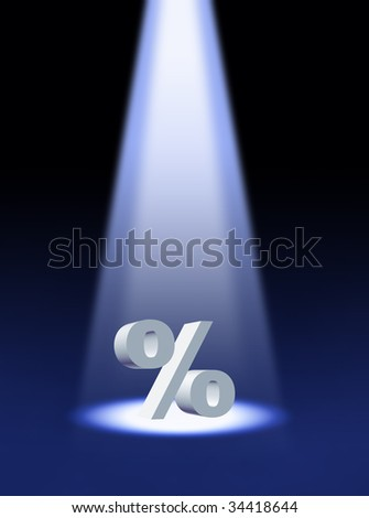 Percentage symbol - stock photo
