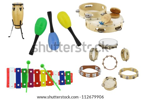 Percussion instruments - stock photo