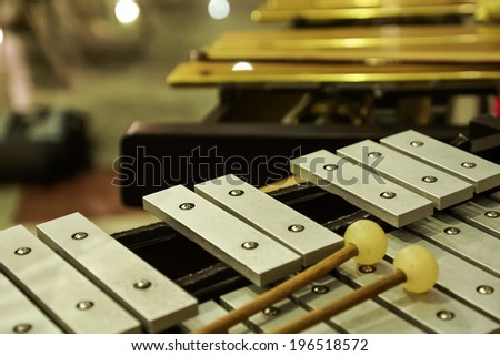 Percussion Instruments ( Xylophone ). - stock photo