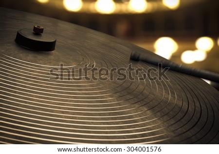 Percussive Cymbals - Music conceptual image - stock photo