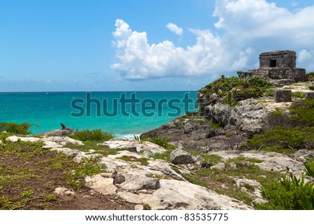 Perfect beach at lost city of Tulum - Mexico