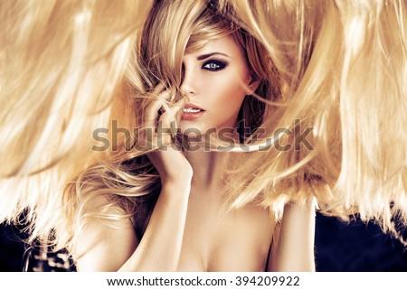 Perfect blonde beauty - stock photo