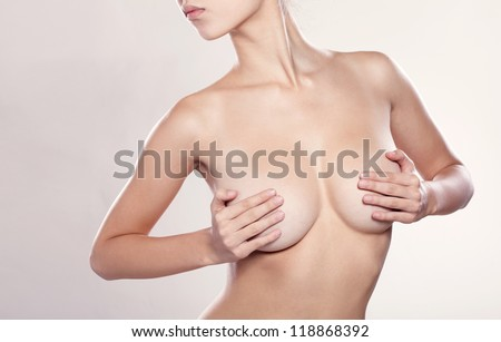 Perfect body, isolated, white background - stock photo