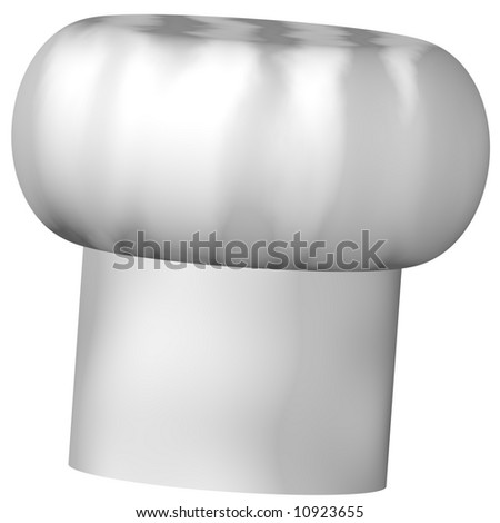 Perfect chef's hat isolated on white - stock photo