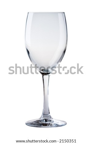 Perfect, clean, red wine glass against a plain background - stock photo