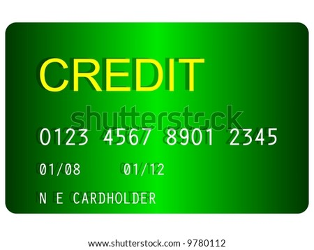 Perfect credit card isolated on white