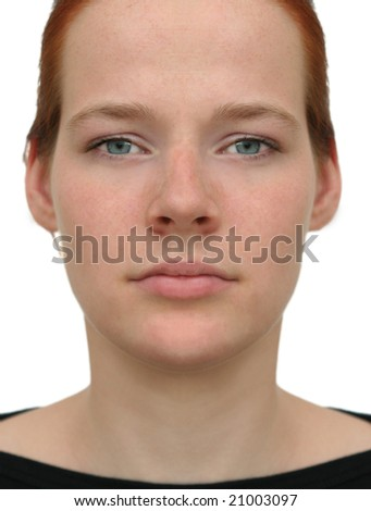 Perfect face - A so-called perfect face, the expected result of cosmetic surgery.