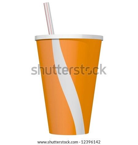 Perfect fast food beverage isolated on white - stock photo