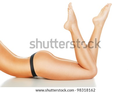 perfect female body - stock photo