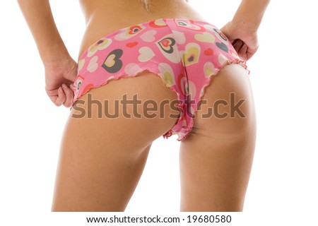 Perfect female body. Sexy lingerie isolated on white background - stock photo