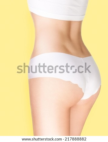 Perfect female body - torso and buttocks.