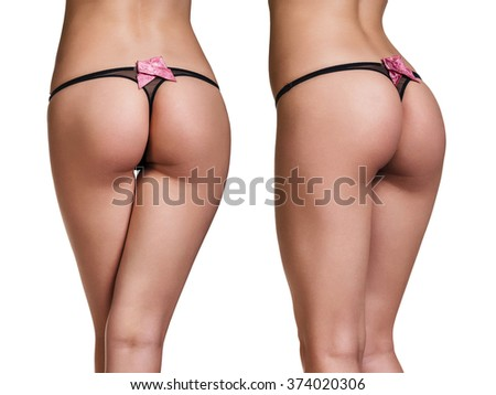 Perfect female buttocks