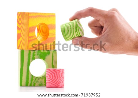 Perfect Fit (Basic Problem Solving Skill) - stock photo