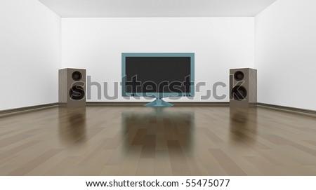 Perfect home cinema - stock photo