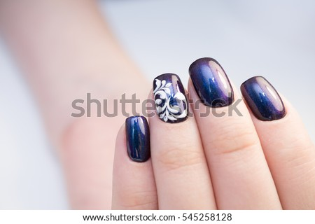 perfect manicure natural nails attractive modern stock