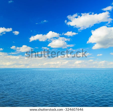 Perfect sky and sea - stock photo