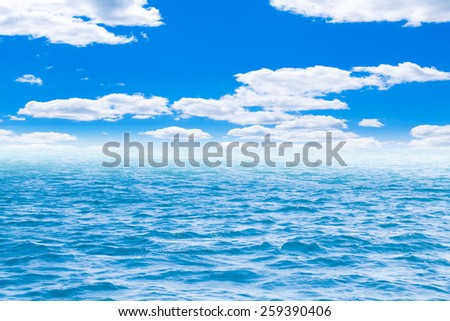 Perfect sky and water of ocean - stock photo