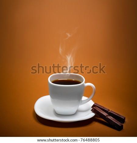 Perfect Smoking Coffee - stock photo