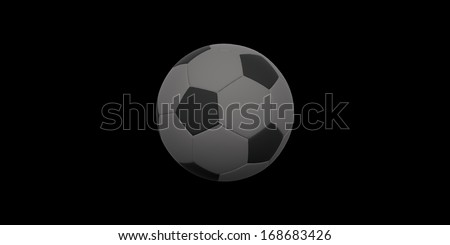 Perfect Soccer ball or football, clean, bright studio isolation
