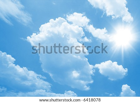 Perfect sunny day - stock photo