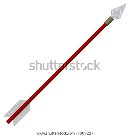 Perfect traditional arrow isolated on white - stock photo