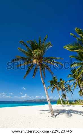 Perfect tropical white sand beach on Boracay island, Philippines - stock photo