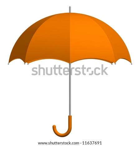 Perfect umbrella isolated on white - stock photo
