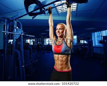 perfect woman abs - stock photo
