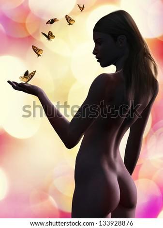 perfect woman beauty - stock photo