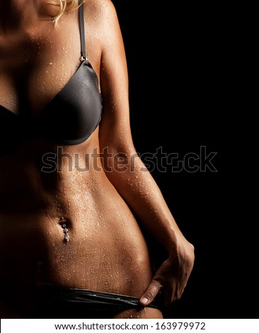 Perfect woman body - stock photo