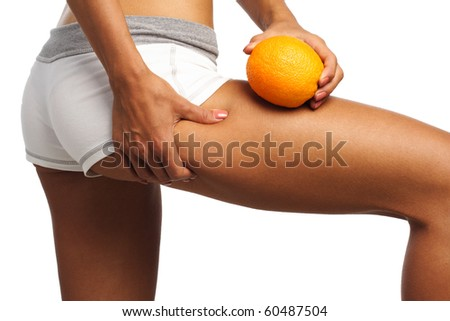 perfect womans bum and legs - stock photo