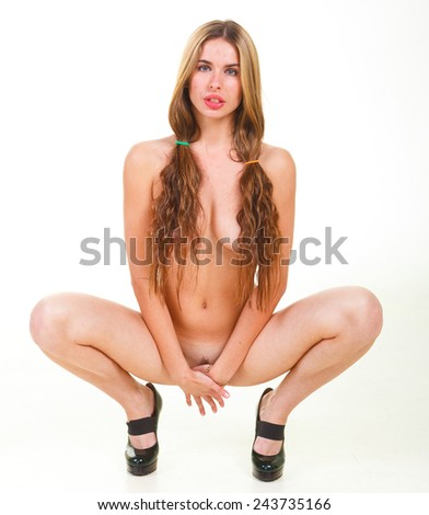 Perfection and Elegance Charming and Naked  - stock photo