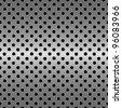 perforated metal - stock vector