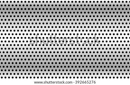 Perforated metal background. Industrial backdrop, metallic sheet with dimples. Repeatable pattern. - stock photo