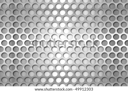 perforated metal plate 3 - stock photo