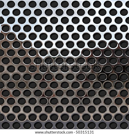 perforated metal plate 4 - stock photo
