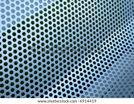 Perforated metallic grid, industrial background - stock photo