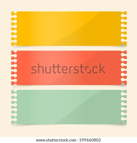 Perforated Papers Set Illustration - stock photo