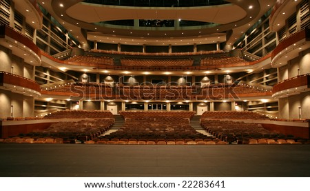 Performance art center, view from stage - stock photo
