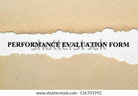 Performance evaluation - stock photo