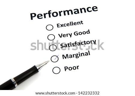 Performance evaluation form - stock photo