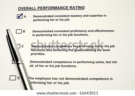 Performance rating - stock photo