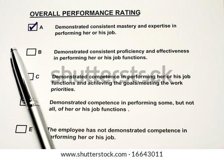 Performance rating - stock photo
