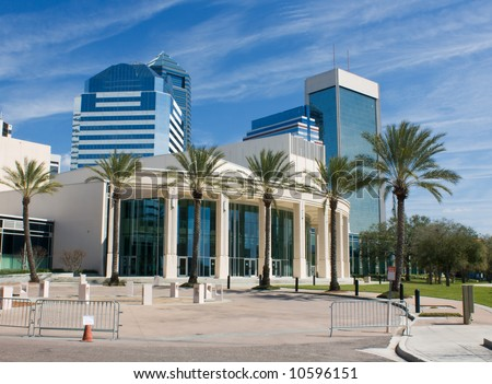 performing arts center in downtown Jacksonville, Florida - stock photo