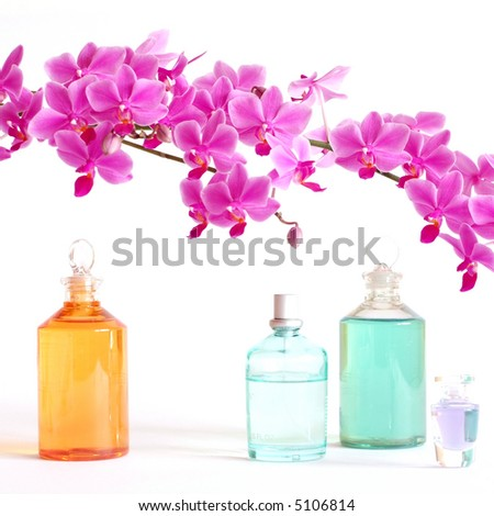 Perfume and Beauty Set - stock photo